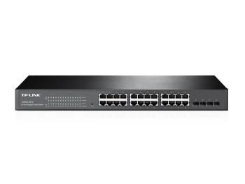 TP-Link T1600G-28TS (TL-SG2424) JetStream 24-Port Gigabit Smart Switch with 4 SFP Slots