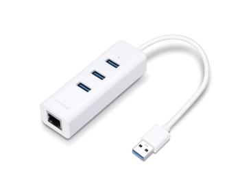 TP-Link USB 3.0 3-Port Hub & Gigabit Ethernet 2 in 1 USB Adapter